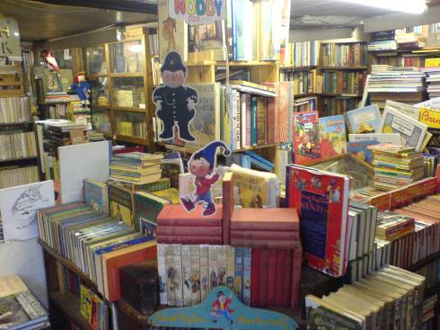 Selection of Books inside the shop